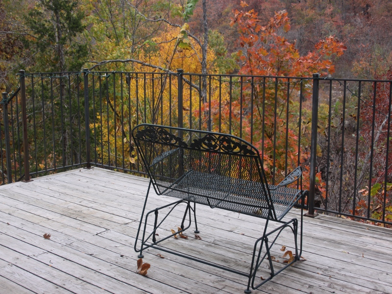 Another View Of The Deck At Azalea Falls Lodge*