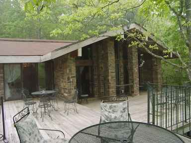The Deck At Azalea Falls Lodge